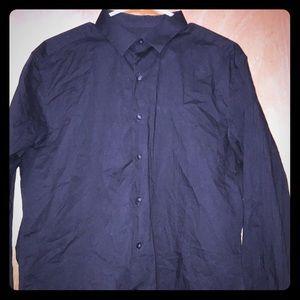 Men's Alfani Slim Fit Stretch Dress Shirt.